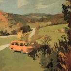 Fairfield Porter (1907–1975), Car in Vermont, 1962, oil on canvas, 36 x 32 inches