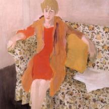 Fairfield Porter (1907–1975), Elaine de Kooning, 1957, oil on canvas, 62 x 41 inches