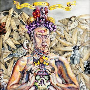 Holly Trostle Brigham, Freeing the Frieda in Me, 2003, Watercolor, 29 1/2 x 29 1/2 inches