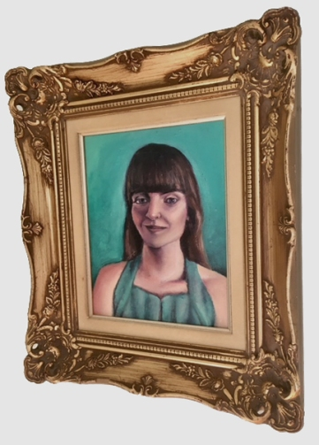 Annette Nichols, Auto Portrait II, 2019, oil on canvas, 10 x 8 inches