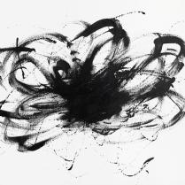 Annette Nichols, Ugoku Movement ni, 2021, ink on paper, 9x12 inches