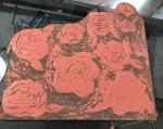 Annette Nichols Roses Linocut 2021